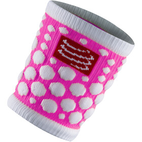 Compressport 3D Dots Manchettes, fluo pink